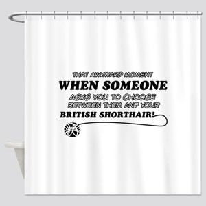 British Shorthair cat gifts Shower Curtain