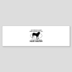 Mastiff dog funny designs Sticker (Bumper)