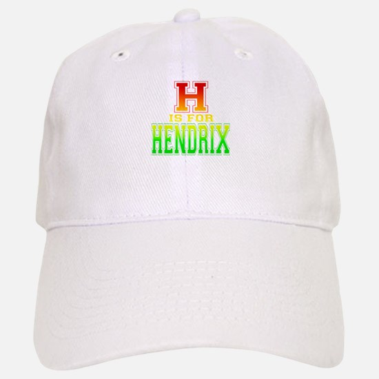 H is for Hendrix Baseball Baseball Cap