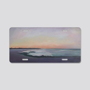 SUNSET WALK ON THE BEACH Aluminum License Plate