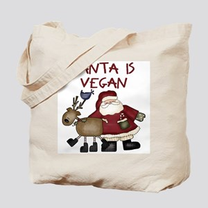 Santa Is Vegan Tote Bag