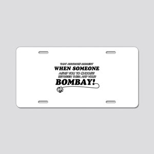 Burmese cat gifts Aluminum License Plate