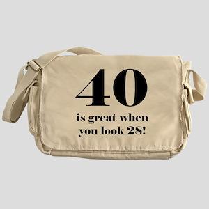 40th Birthday Humor Messenger Bag