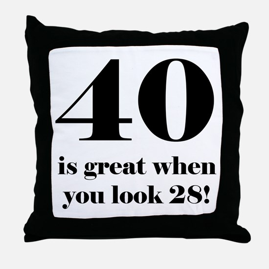40th Birthday Humor Throw Pillow