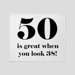 50th Birthday Humor Throw Blanket