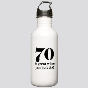 70th Birthday Humor Stainless Water Bottle 1.0L