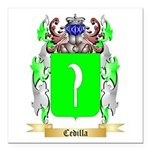 Cedilla Square Car Magnet 3