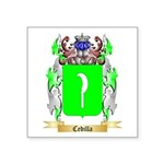 Cedilla Square Sticker 3