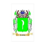 Cedilla Sticker (Rectangle 50 pk)