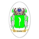 Cedilla Sticker (Oval)
