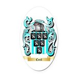Cecil Oval Car Magnet