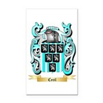 Cecil Rectangle Car Magnet