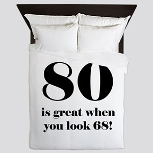 80th Birthday Humor Queen Duvet
