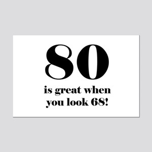80th Birthday Humor Mini Poster Print
