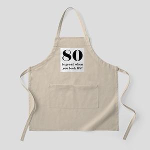 80th Birthday Humor Apron