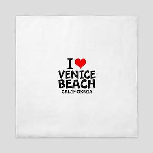 I Love Venice Beach, California Queen Duvet
