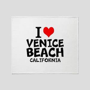 I Love Venice Beach, California Throw Blanket