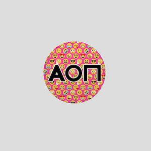 Alpha Omicron Pi Emoji Letters Pink Pa Mini Button