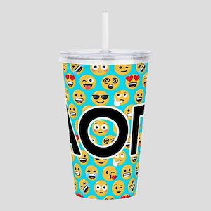 Alpha Omicron Pi Emoji Acrylic Double-wall Tumbler