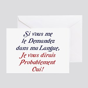 French language greeting cards cafepress the french greeting cards pk of 10 m4hsunfo