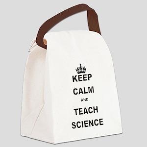 KEEP CALM AND TEACH SCIENCE Canvas Lunch Bag