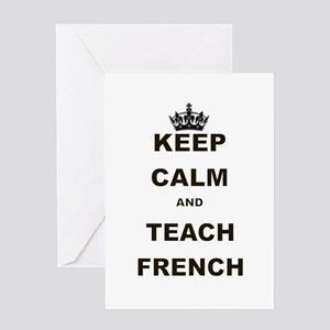 Teacher funny french greeting cards cafepress keep calm and teach french greeting card m4hsunfo