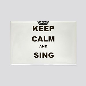 KEEP CALM AND SING Rectangle Magnet