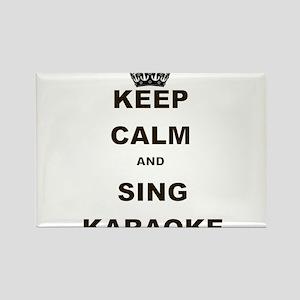 KEEP CALM AND SING KARAOKE Rectangle Magnet