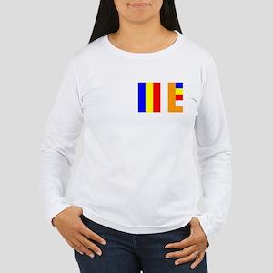 Buddhist Flag Women's Long Sleeve T-Shirt