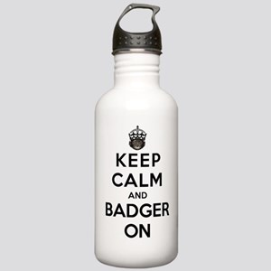 Keep Calm And Badger On Stainless Water Bottle 1.0