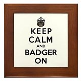 Honey badger Framed Tiles