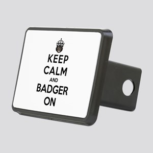 Keep Calm And Badger On Rectangular Hitch Cover