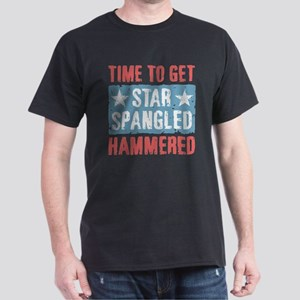 Star Spangled Hammered Dark T-Shirt