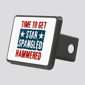 Star Spangled Hammered Rectangular Hitch Cover