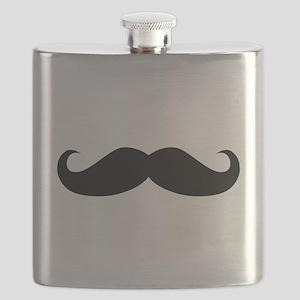 Classic Mustache Flask