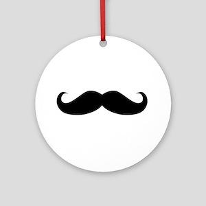 Classic Mustache Ornament (Round)