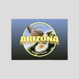 Arizona Bird-Flower 5'x7'Area Rug