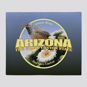 Arizona Bird-Flower Throw Blanket