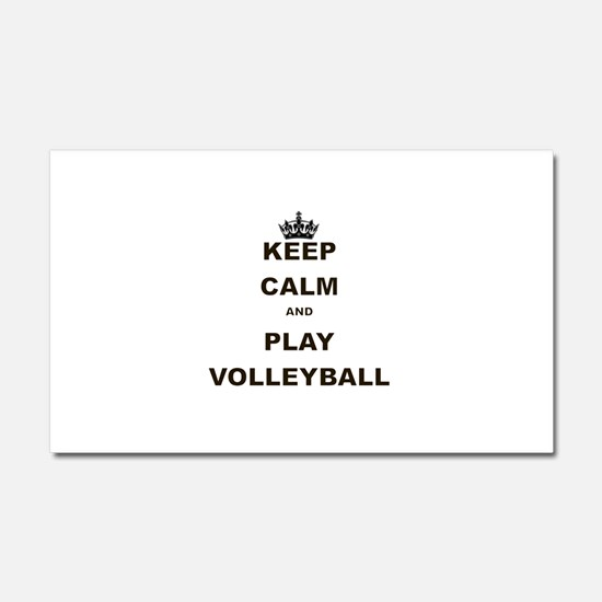 KEEP CALM AND PLAY VOLLEYBALL Car Magnet 20 x 12