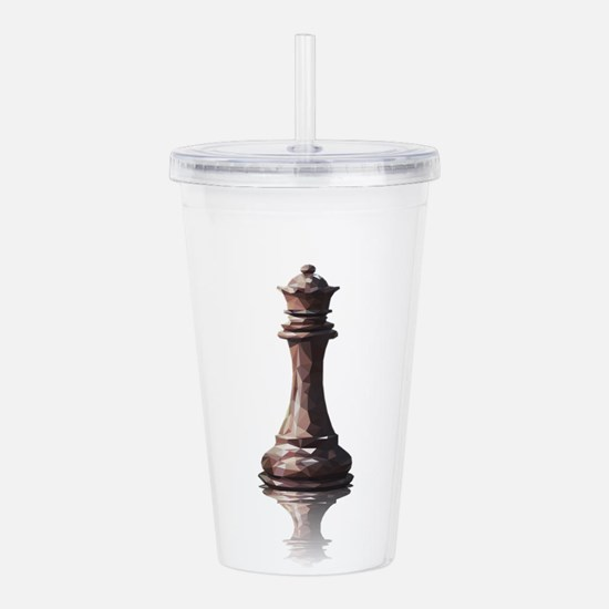 queen low poly Acrylic Double-wall Tumbler