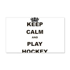 KEEP CALM AND PLAY HOCKEY Wall Decal