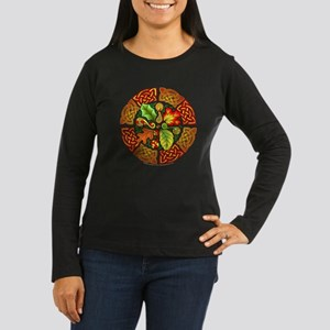 Celtic Autumn Leaves Women's Long Sleeve Dark T-Sh