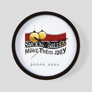 Suck My Balls Wall Clock