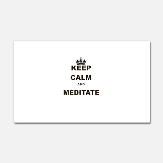 KEEP CALM AND MEDITATE Car Magnet 20 x 12