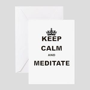 KEEP CALM AND MEDITATE Greeting Card