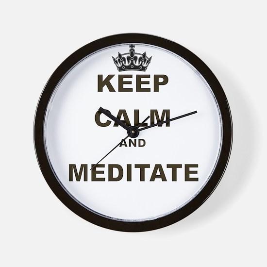 KEEP CALM AND MEDITATE Wall Clock