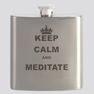 KEEP CALM AND MEDITATE Flask