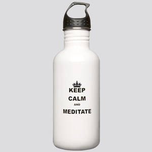 KEEP CALM AND MEDITATE Water Bottle