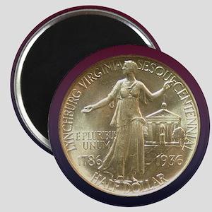 Lynchburg VA Sesquicentennial Coin Magnet