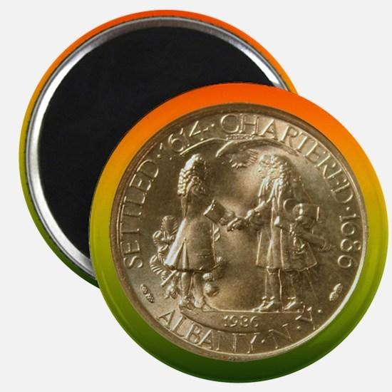 Albany NY Charter Coin Magnet